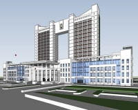SU-011: Sketchup exterior vol.6 (Office Building)