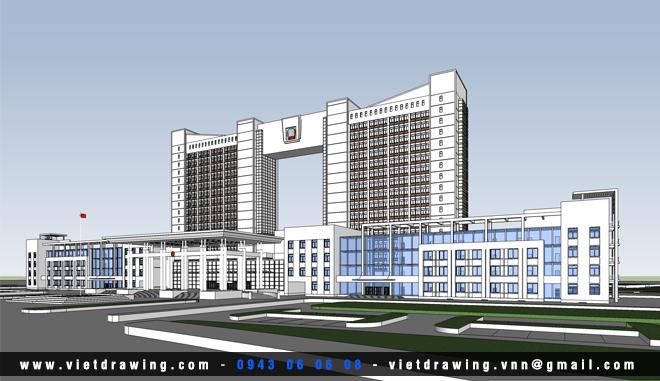 SU-011: Sketchup exterior vol.6 (Office Building)