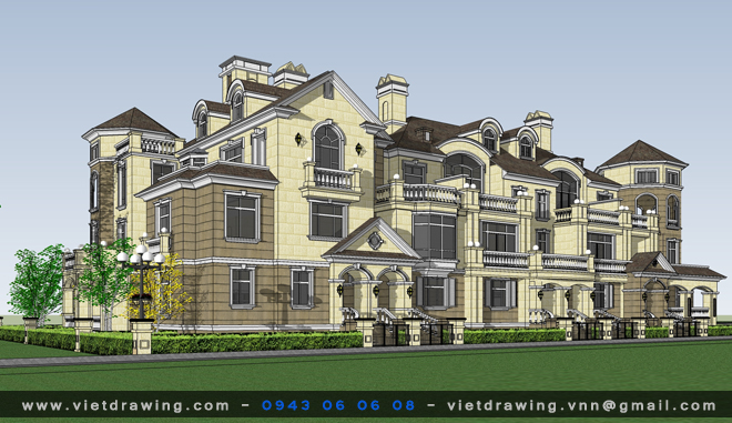 SU-010: Sketchup exterior Vol.05 (Biệt thự 01)