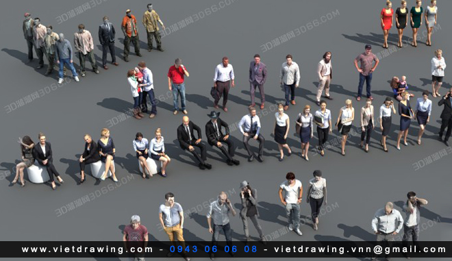 A009 – 3D PEOPLE MODEL COLLECTION VOL.1