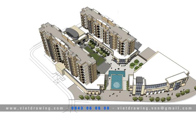 SU-025 Sketchup exterior vol.18 (Apartment Buildings 3)