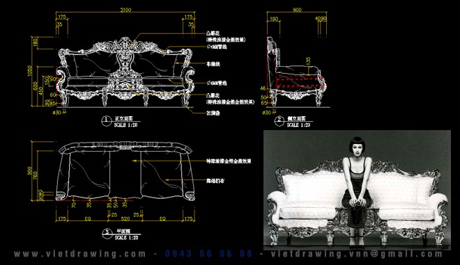 CADI-019: 15.000 CAD FURNITURE VOL.4 (CLASSIC + MODERN)